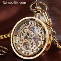 Steampunk Mechanical Manual Winding Pocket Watch!!