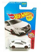 Hot Wheels 2017 Then and Now '16 Honda Civic Type R 327/365, White