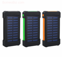 Solar Power Bank 8000mah Portable Waterproof Solar Charger with LED