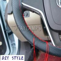 Soft Braid Leather Car Steering Wheel Cover